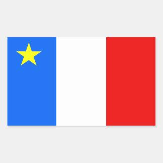 Bandera del Acadia Pegatina Rectangular