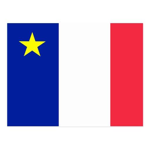 Bandera del Acadia Postales