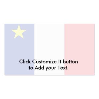 Bandera del Acadia Tarjetas De Visita