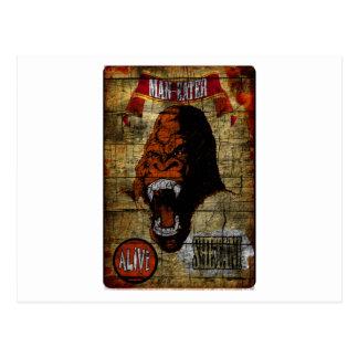 Bandera del acto secundario con el gorila tarjetas postales