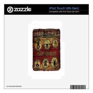 Bandera del acto secundario del vintage iPod touch 4G skins