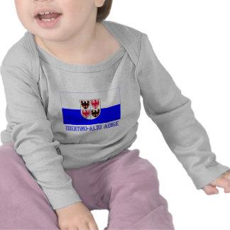 Bandera del Adigio del Trentino-Alto con nombre Camiseta
