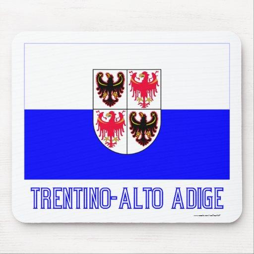 Bandera del Adigio del Trentino-Alto con nombre Mouse Pad