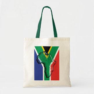Bandera del africano de Suráfrica RSA Bolsas Lienzo