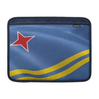 "Bandera del aire 13"" de Aruba MacBook manga Fundas Para Macbook Air"