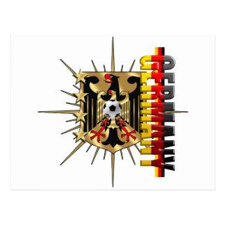 Bandera del alemán de la insignia 2014 del escudo  tarjeta postal