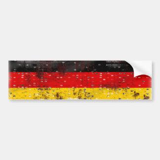 Bandera del alemán del Grunge Pegatina Para Auto