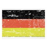 Bandera del alemán del vintage comunicados personales