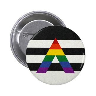 Bandera del aliado de LGBT Pin Redondo De 2 Pulgadas