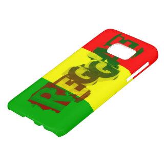 bandera del amor de la paz del reggae del rasta funda samsung galaxy s7