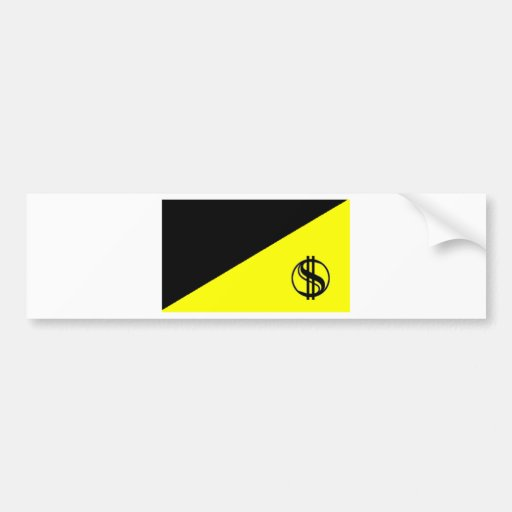 Bandera del Anarcho-Capitalista Etiqueta De Parachoque