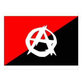 Bandera del anarquista con símbolo de A Postales