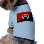 Bandera del anarquista con símbolo de A Camisas De Mascota