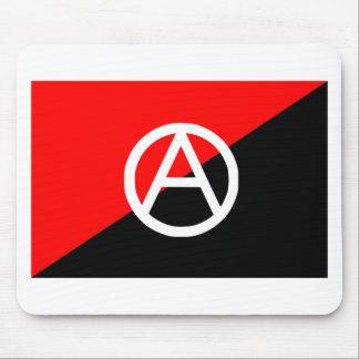 Bandera del anarquista con símbolo de A Alfombrillas De Ratones