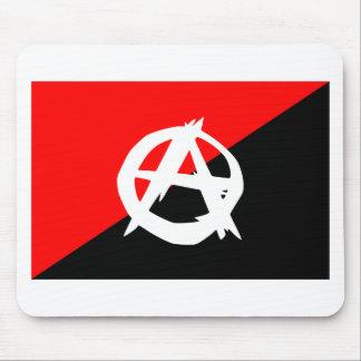 Bandera del anarquista con símbolo de A Tapete De Raton