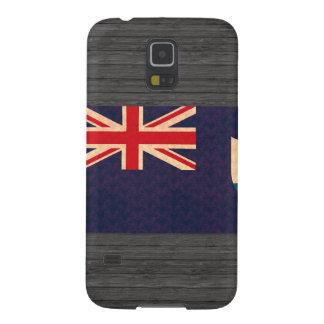 Bandera del Anguillan del modelo del vintage Carcasas Para Galaxy S5