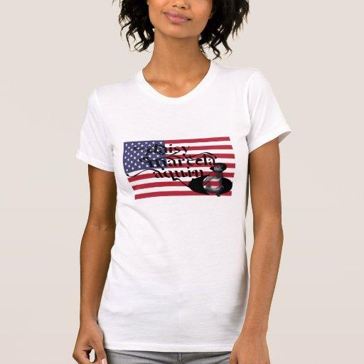 bandera del aquino del marcela de la margarita camisetas