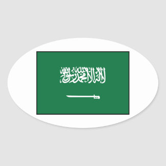 Bandera del árabe de la Arabia Saudita Pegatina Ovalada