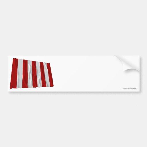 Bandera del árbol de la libertad pegatina para auto