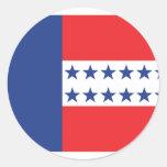 Bandera del archipiélago de Tuamotu, Francia Etiqueta Redonda