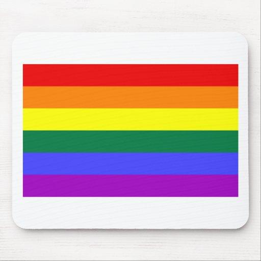Bandera del arco iris alfombrillas de raton