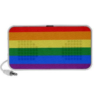bandera del arco iris laptop altavoz