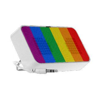 Bandera del arco iris altavoz de viajar