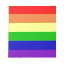 Bandera del arco iris blocs de papel