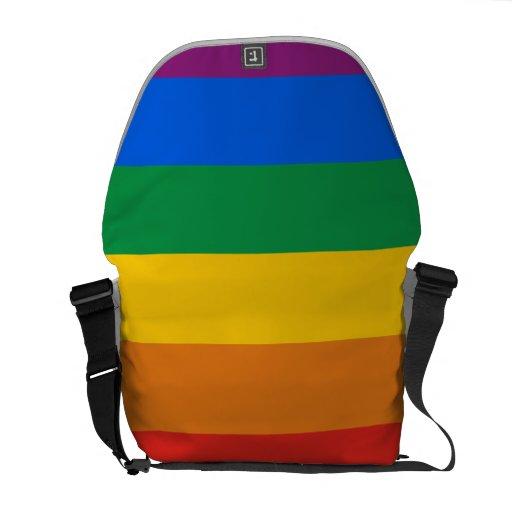 Bandera del arco iris bolsa messenger