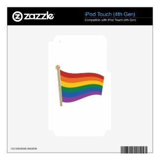 Bandera del arco iris calcomanía para iPod touch 4G