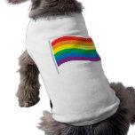 Bandera del arco iris camisa de perrito