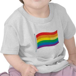 Bandera del arco iris camiseta