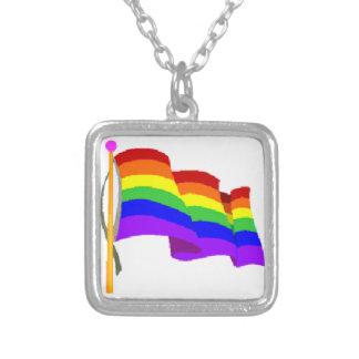 Bandera del arco iris colgantes