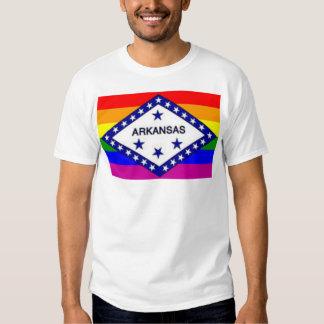 Bandera del arco iris de Arkansas Remera