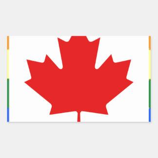 Bandera del arco iris de Canadá Pegatina Rectangular