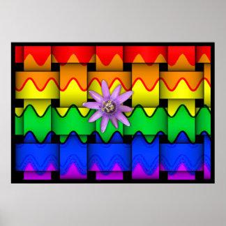 Bandera del arco iris de Krazy Póster