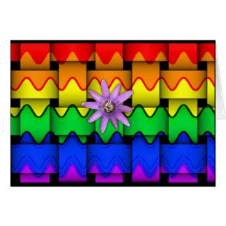 Bandera del arco iris de Krazy Felicitaciones