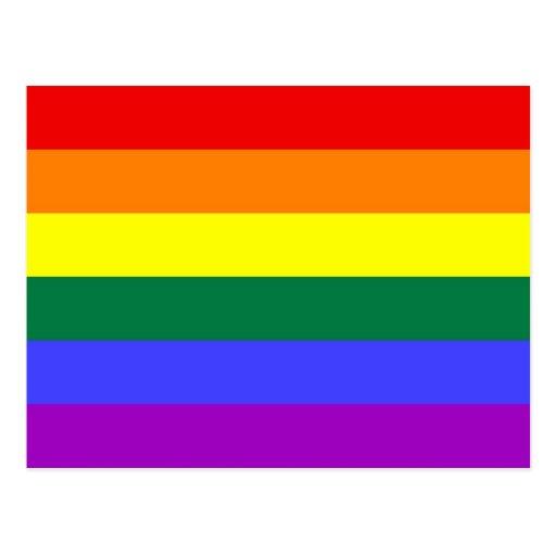 Bandera del arco iris de la barra horizontal del o tarjeta postal