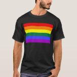 Bandera del arco iris de la barra horizontal del playera