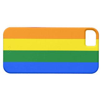 Bandera del arco iris de LGBT iPhone 5 Case-Mate Cobertura