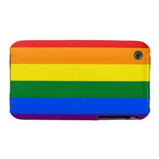 Bandera del arco iris de LGBT Case-Mate iPhone 3 Protector