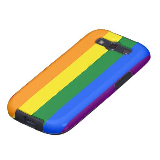 Bandera del arco iris de LGBT Samsung Galaxy S3 Carcasa