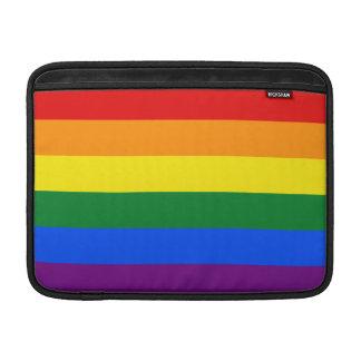 Bandera del arco iris de LGBT Funda Para Macbook Air