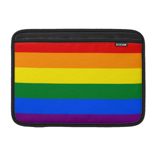 Bandera del arco iris de LGBT Funda Macbook Air