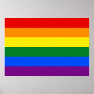 Bandera del arco iris de LGBT Póster