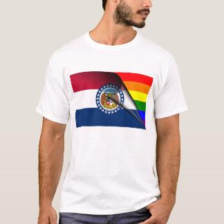 Bandera del arco iris de Missouri Playera