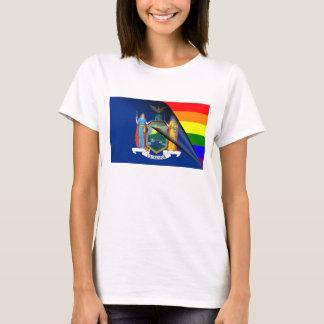 Bandera del arco iris de Nueva York Playera