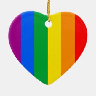 Bandera del arco iris ornato