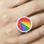 Bandera del arco iris del color de LGBT Anillo