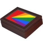Bandera del arco iris del color de LGBT Cajas De Recuerdos